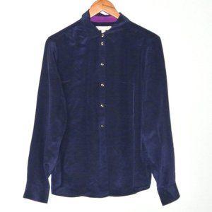 Banana Republic Button Up Blue Silk Blouse NWT